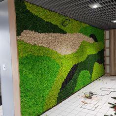 Moss Wall Art, Moss Art, Verticle Garden, Bottle Garden, 3d Wall Panels, Green Art, Plant Wall, Outdoor Projects, Amazing Architecture