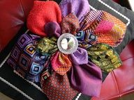 Use up your necktie scraps to make necktie flowers... So pretty!