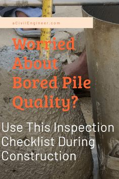 Write these points in a perper and keep that with you while inspecting bored pile construction. Concrete Cover, Poured Concrete, Cement, Concrete Slump Test, Can You Can, Soil Layers, Construction Process, Concrete Blocks, Civil Engineering