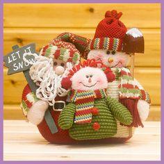 Christmas Santa Claus & Snow Man Doll Christmas Decoration Christmas Gift For Kids Regalos de Navidad