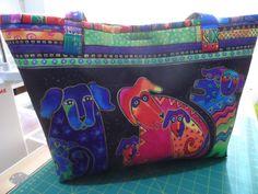 Tote Bag  Handmade Tote Bag  Laurel Burch print by Fiberartplus