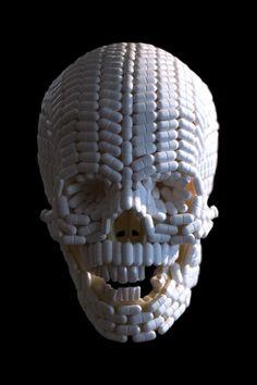 Skull made of pills