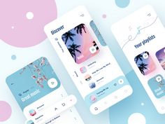 Music app IOS 3 designed by Julia. Connect with them on Dribbble; the global community for designers and creative professionals. Ui Design Mobile, App Ui Design, Mobile Ui, Interface Design, Flat Design, Dashboard Design, User Interface, Design Design, App Design Inspiration
