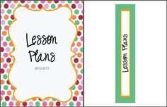 FREE Lesson Plan Binder Cover & Spine Label from therealteachr.blogspot.com.