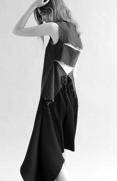 ALEXA BACK TIE TOP by REJINA PYO / SKIRT by JW ANDERSON / PHOTOGRAPHER BEN MALLEK / MODEL MADI @ PREMIER