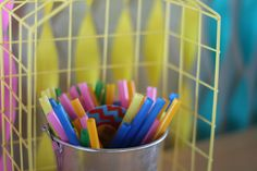 Colorfull party straws