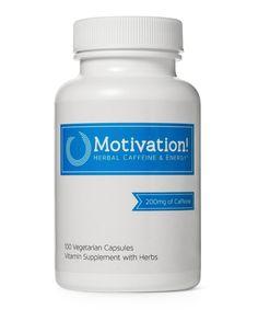 Motivation Herbal Caffeine Energy Vitamin Supplement 100 Capsules 1 Bottle NEW