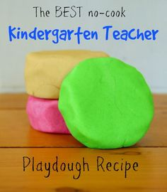 This is the BEST PLAYDOUGH RECIPE there is! is part of Cooked playdough - After trying at least 20 recipes throughout my first year teaching kindergarten I have found the BEST and easiest nocook playdough recipe there is! Toddler Fun, Toddler Crafts, Preschool Crafts, Crafts For Kids, Daycare Crafts, Fun Projects For Kids, Classroom Crafts, Kids Fun, Kids Learning Activities