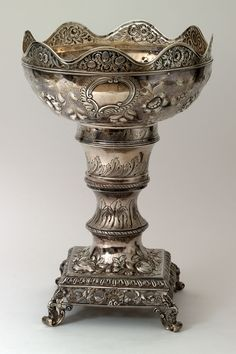 Rococo Revival style; 1800-1825/1824-1835 Georgetown, Maryland; Charles A. Burnett (bowl) Baltimore; Samuel Kirk (monteith rim, collar, and stand)