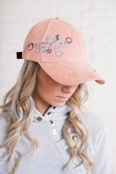 cee2a27c11 Kensley Floral Hat (Blush) Hat Embroidery