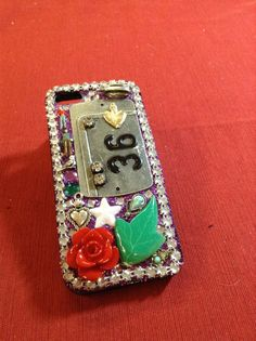 Glittery decoden iPhone5 case PURPLE by craftychica on Etsy, $29.99