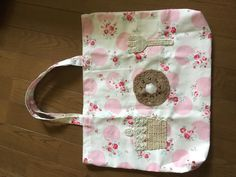 a bag for kids with chrochet motifs