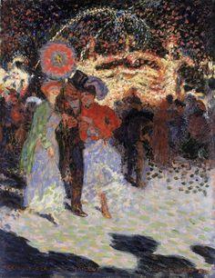 Kermesse à la Porte Maillot, Parijs (Simonis & Buunk) by Jan Sluijters (Dutch 1881-1957)