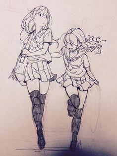 @Hakoneko采集到线稿(76图)_花瓣插画/漫画