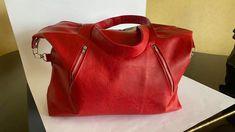 Sac Java en simili rouge cousu par Yannic - Patron Sacôtin