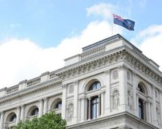 The Falklands flag flies proudly over the FCO in Whitehall today