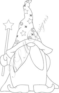 coloring pages to print You will receive a JPG & PNG file for use as a Digital Stamp. By purchasing this item you are bound to the Terms of Use with this item, please read when y Christmas Gnome, Christmas Colors, Christmas Art, Christmas Ornaments, Christmas Coloring Pages, Coloring Pages To Print, Christmas Paintings, Digi Stamps, Machine Quilting
