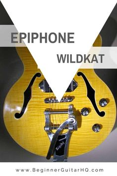The Epiphone Wildkat semi-hollow guitar is one of those original Epiphone models. You see, aside from making affordable Gibson-designed instruments, Epiphone also manufactures original designs that date the company's origins. Guitar Reviews, Rock Sound, Gibson Guitars, Guitar For Beginners, Epiphone, Les Paul, Playing Guitar, Classic Rock