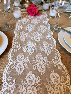 NEW Lace Table Runner Vintage6ft Ivory 8.5in by LovelyLaceDesigns, $11.95