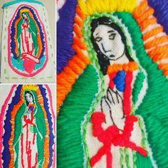 Funda para celular- Virgen de Guadalupe -Bordada a mano pedilo en www.facebook.com/LupitaBordados Facebook, Virgen De Guadalupe, Hands