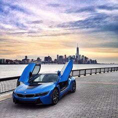 BMW i8 | BMW | i8 | i series | electric future | electric car | blue BMW | blue i8