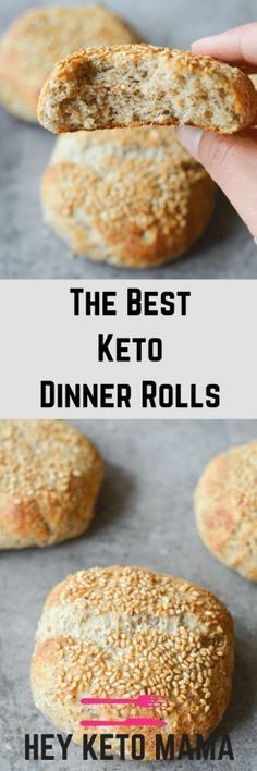 The Best Keto Dinner Rolls 2019 These are the best keto dinner rolls to help replace bread in your low carb lifestyle. This recipe is easy filling and delicious! via Hey Keto Mama The post The Best Keto Dinner Rolls 2019 appeared first on Rolls Diy. Desserts Keto, Keto Snacks, Diabetic Snacks, Ketogenic Recipes, Low Carb Recipes, Vegan Recipes, Bread Recipes, Flour Recipes, Chicken Recipes