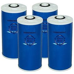 Four Granular Activated Carbon Replacement Water Filters - 4.5 x 10 Inch Universal Dimension * A High Quality, Low Cost Alternative to the More Expensive OEM Cartridges * Compatible Cartridges: GE FXHTC, Pentek GAC-BB Big Blue, RFC10-BB, RFC-BB, Watts GAC-BB10 * Ametek GAC-10-BB, RFC-BB, Culligan RFC-BBS, RFC-BB, WHIRLPOOL WHCF-WHPCBB, US Filter * (Placed within the Amazon Associates program) * 01:52 Mar 9 2017