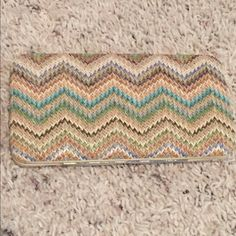 Chevron Wallet Large snap shut chevron colored wallet. Excellent condition. Hard case to protect your belongings. Bags Wallets
