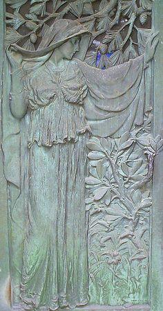 Woodlawn Cemetery: Door Detail, Bohn Mausoleum. Detroit, MI.