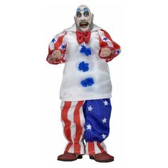 House of 1000 Corpses Captain Spaulding 8-Inch Action Figure - NECA - Horror: House of 1000 Corpses - Action Figures at Entertainment Earth