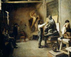Interior of Scherer and Chierici's Roman studio, by Giorgio Scherer (1831-1896)