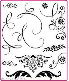 Build your own flourish: set of stamps. This stamp set allows you to build your own paisley designs. Each stamps is designed for layer.