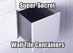 hidden storage, hiding places, tiles, bathroom storage, bathroom idea, small bathrooms, hous, drawers, design