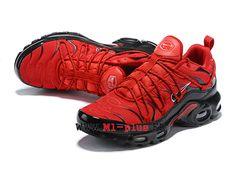 cheap for discount d544c 22bfb Nike Air Max Plus TN Ultra SE Officiel 2019 Chaussures de basket Homme  Grand rouge noir