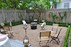 Lawn Replacements: Kick Your Yard in the Grass. Pea gravel patio. Replace mulch area by deck.