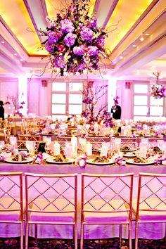 Yellow and purple #wedding #decor-Possible idea for christi & shaun 2014?!?