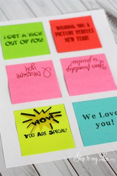 printing clever sayings on post-it notes
