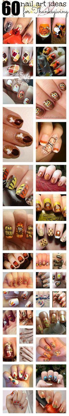 Thanksgiving nail art ideas.