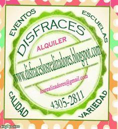 Alquiler de disfraces.  disfraceslosrealizadores.blogspot.com