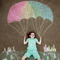 Sidewalk Chalk Scenes.  Create a scene out of sidewalk chalk and add your child…