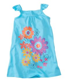 Another great find on #zulily! Blue Pool Floral Shift Dress - Infant, Toddler & Girls by Hanna Andersson #zulilyfinds