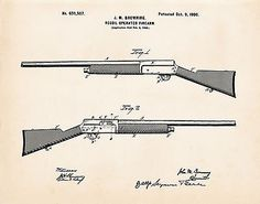 John browning 1900 semi-auto #shotgun auto 5 a5 a-5 #patent #drawing gun gifts,  View more on the LINK: http://www.zeppy.io/product/gb/2/131792141723/