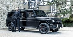 The Inkas-modified G63 AMG limo is truly menacing. Finished in matte black, the stretch limo dares to be messed with.
