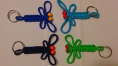 http://www.instructables.com/id/How-to-Tie-a-Dragon-Fly-Hair-Barrette-with-Paracor/?ALLSTEPS