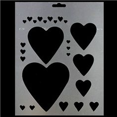 This Heart Stencil can be used with acrylic or latex paints, spray paints, stains, chalks and inks. And the New Trend: #Face Painting!   1.99!