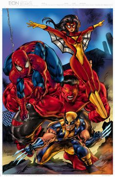 the avenging spidey and friends colored by gammaknight on DeviantArt