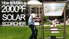 How to make a 2000 degree solar scorcher