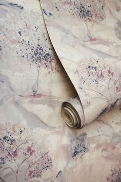 A beautiful wallpaper design featuring a watercolour scene of trees and rolling hills. Shown here in the dusky pink and navy colour, with a metallic sheen. Please request a sample for a true colour match. Navy Wallpaper, Beautiful Wallpaper, Home Wallpaper, Albany Wallpaper, Navy Colour, Designer Wallpaper, Writings, Textures Patterns, True Colors