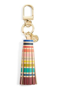 Free shipping and returns on Tory Burch Tassel Bag Charm at Nordstrom.com. Add a dash of vintage flair to your favorite handbag with a tasseled, brightly striped charm.