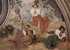 Pontormo - Lunetta di Vertumno e Pomona, dettaglio - 1519-1521 - affresco - Villa medicea di Poggio a Caiano, Prato